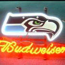 "Brand New NFL Seattle Seahawks Budweiser Beer Bar Pub Neon Light Sign 13""x 8"" [High Quality]"