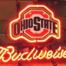 "Brand New NFL Ohio State Buckeyes Budweiser Beer Bar Pub Neon Light Sign 13""x 8"" [High Quality]"