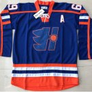 "# 69 Goon Doug ""The Bully"" Glatt Halifax Mountaineers Movie Hockey Jersey Blue style"