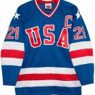 1980 Mike Eruzione  Olympic USA MIRACLE Hockey K1 Jersey New Blue Any Size RARE