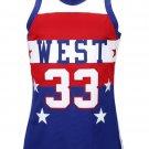 1980  Mens All Star West Kareem Abdul-Jabbar New Any Size RARE