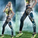 Woman Yoga Pants Sport Leggings Jacksonville Jaguars Sports Tights Fiber Sport
