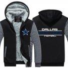 Jacket 2017 Dallas Cowboys NFL Hoodies Super Warm Thicken Fleece Men's Coat US Luxury Grey Black 1