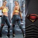Woman Yoga Pants Fitness Sport 3D Leggings Superman/Superwoman Sports Tights Fiber Sport Fitness