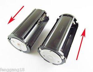 Black Parallel Battery Adapter Holder 3x 18650 3.7V Case Box F Flashlight Torch