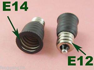 US E12 To European E14 Candelabra Base Socket LED Light Bulb Lamp Adapter Holder