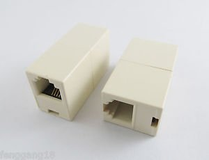 RJ-11 Phone Telephone Line Cable Coupler Extension Connector Socket Adapter
