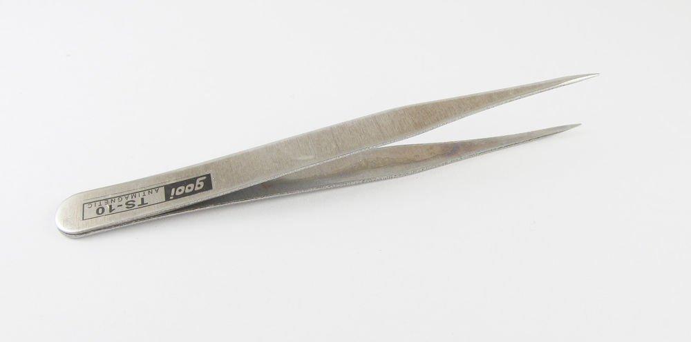 1x Stainless Steel Watchmaker Repair Anti-Static Jewelry Tweezers Tools TS-10