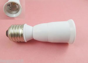 E27 to E27 Extension Socket Base CLF LED Light Bulb Lamp Adapter Converter