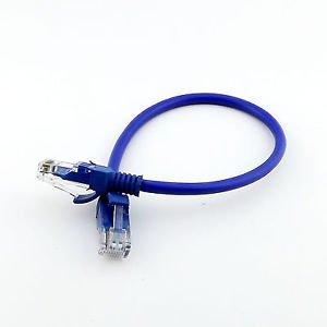 Network Cable Line Cat5E RJ45 Patch Cable Ethernet Internet Lan Cord Blue 20cm
