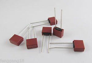 10pcs T6.3A T6300mA 6.3A Square Miniature Micro Fuse Slow Blow Fuse 250V