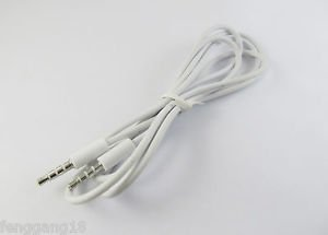 2x 3.5mm Male to Male Car Audio Aux Extension Cable Cord Apple iPhone 4 4S White
