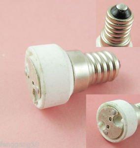 E14 to MR16 Socket Base LED Halogen CFL Light Bulb Lamp Adapter Converter Holder