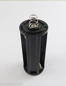 10pcs Black Battery Holder Spring Case Box 3x AAA LR03 UM-4 For Flashlight Torch