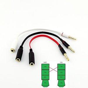 CTIA to OMTP 3.5mm Audio Adapter Converter Cable Headphones Handsfree Earphones