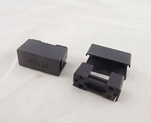 1pcs Fuse Holder Case With Cover 250V 10A Used for 5x20mm PCB Mount Black Color