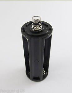 1pcs Black Battery Holder Spring Case Box 3x AAA LR03 UM-4 For Flashlight Torch