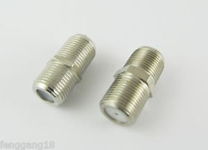 F Female Jack to F Female Double Straight Coaxial TV RF Adapter Connector