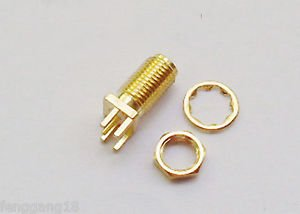 10x SMA Female Jack w/ Nut edge mount PC Board PCB receptacle Adapter Connector
