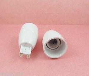G9 to E14 Socket Base LED Halogen CFL Light Bulb Lamp Adapter Converter Holder