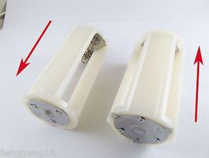 1x White Parallel Battery Adapter Holder 3x 18650 3.7V Case Box Flashlight Torch