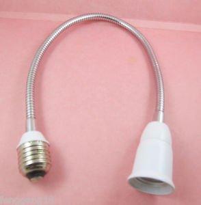 50cm E27 to E27 Light Lamp Flexible Extension Adapter Converter Screw Socket