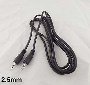 1x 5Ft 2.5mm Male To 2.5mm Male Stereo Headset Audio Aux Cable Cord for iPod MP3