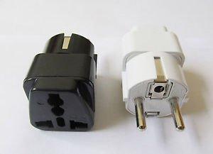 US AU UK to EU AC POWER PLUG 10/16A Grounded Universal Adapter Travel Converter