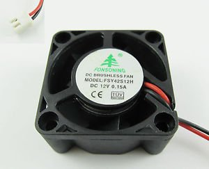 Brushless DC Cooling Fan 5 Blades DC 12V 40mm x 40mmx20mm 4020 2 Pin