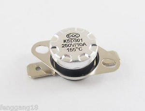 1pcs Temperature Controlled Switch Thermostat 155°C N.C. KSD301 Normal Close 10A