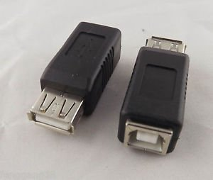 10pcs USB 2.0 Type A Female To Printer Type B Female Converter Adapter Connector