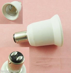 BA15D to E27 Socket Base LED Halogen CFL Light Bulb Lamp Adapter Converter Holde