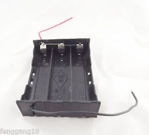 1pcs Hold 3 Li-ion 18650 Parallel Battery Holder Case 3.7V With 2 Wire Lead