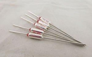 10pcs Microtemp Thermal Fuse 65°C 65 Degree TF Cutoff Cut-off 10A AC 250V New