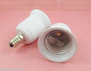 E12 to E26 Candelabra Socket Base LED Light Bulb Lamp Adapter Converter Holder