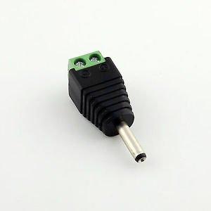 3.5mm x1.35mm Male Plug TO AV Screw Terminal Plug Connector CCTV Video AV Balun