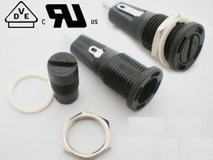5 Pcs Fuse Holder R3-54B 6.3A 250V 10A 125V for 5x20mm Fuse