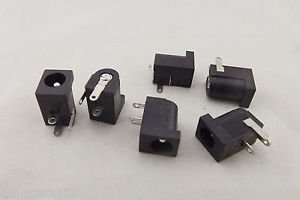 10x Connector 5.5x2.5mm Female DC Power Supply 3 Pin Barrel-Type PCB Panel Mount