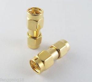 10x SMA Male Plug to SMA Male Plug RF double Straight Coaxial Connector Adapter