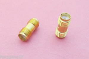 2 Pcs SMA Female Jack to SMA Female Jack Straight Adapter RF Connector New SH