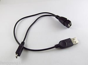 Micro USB 5 Pin Host OTG Cable With USB Power Male Female For Cell Phone Tablet