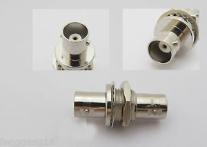 10 x BNC Female Jack to BNC Female With Nut Bulkhead Straight Adapter Connector