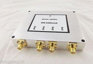RF Coaxial Power Splitter Divider Combiner SMA 4-way Signal Booster 380-2500MHz