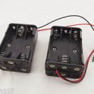 5pcs 6 x AAA Size LR03 UM-4 Plastic Battery Holder Box 9V Case With Wire Lead
