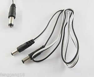 DC Power Tip 5.5x2.1mm Male To Male Charge Camera CCTV Cable Cord Connector 1M