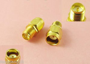 RP-SMA Male Jack to RP-SMA Female Plug in series Straight RF Adapter Connector