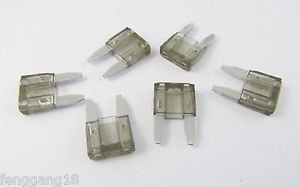 10X Mini Assorted Car Blade Fuse Auto Cars& Trucks Fuses Replacement 32V Gray 2A
