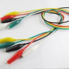 5pcs Probe Dual M 35mm Alligator Clip Clamp Test Lead Cable 5 Colors 50cm Long