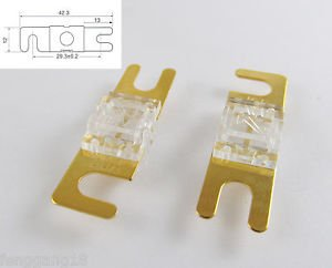 10pcs Gold Plated Car Audio AFS Mini ANL Fuse Auto Stud Fuses 32V 80A 80AMP