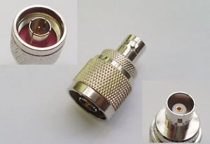 N Male Plug to BNC Female Jack Straight RF Connector Adapter New